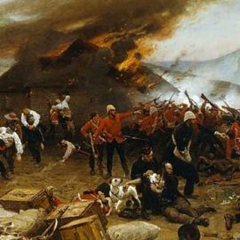 Battle of the Books: Rorke's Drift by Neil Thornton vs. Like Wolves on the Fold by Mike Snook